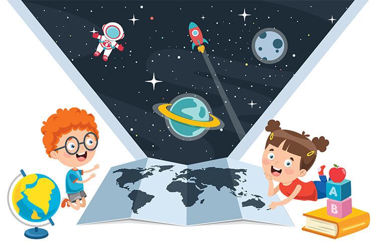 W przestrzeni kosmicznej – Dzieci Młodsze – Piątek 21.05.2021
