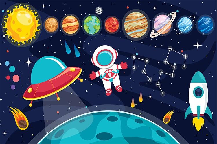 W przestrzeni kosmicznej – Dzieci Młodsze – Poniedziałek 17.05.2021