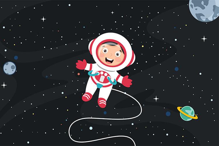 W przestrzeni kosmicznej – Dzieci Młodsze – Czwartek 20.05.2021