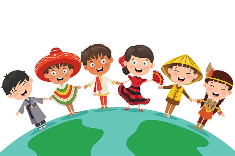Dzieci z różnych stron świata