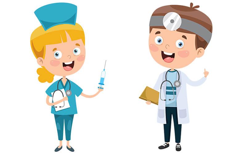 W gabinecie lekarskim – Dzieci Młodsze – Poniedziałek 27.09.2021