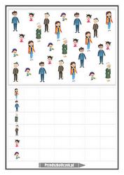 karta pracy liczenie rodzina