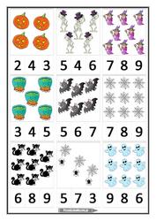 halloween matematyka klamerkowa